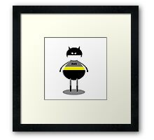 the silly version of batman Framed Print