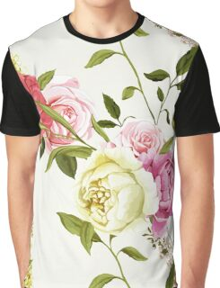 Bouquet of peony and chinese rose. Graphic T-Shirt