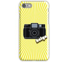Holga Camera with Yellow Rays iPhone Case/Skin