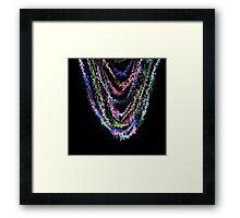 Neon sparkle Framed Print