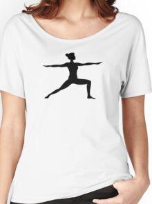 Virabhadrasana Warrior Two Yoga Pose Women's Relaxed Fit T-Shirt