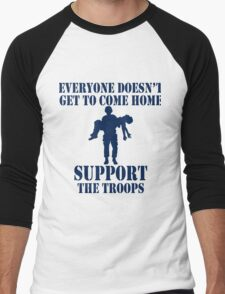 Everyone Doesn't Get To Come Home (Navy print) Men's Baseball ¾ T-Shirt