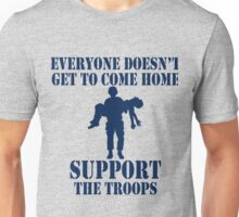 Everyone Doesn't Get To Come Home (Navy print) Unisex T-Shirt