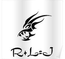 R+L=J Jon Snow  Poster