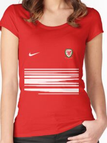 wales team Women's Fitted Scoop T-Shirt