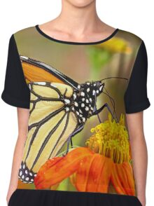 Monarch Of The Flowers Chiffon Top