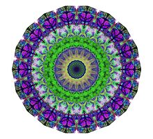 Green Light Mandala Art by Sharon Cummings by Sharon Cummings