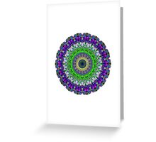 Green Light Mandala Art by Sharon Cummings Greeting Card