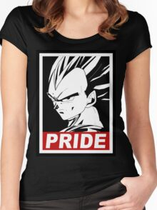 vegeta pride Women's Fitted Scoop T-Shirt