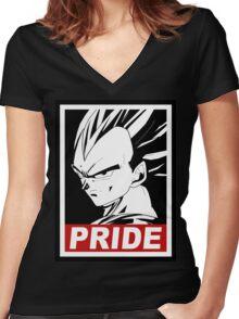 vegeta pride Women's Fitted V-Neck T-Shirt