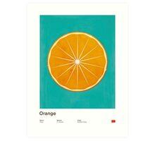 Orange (lucite green) - Natural History Fruits Art Print