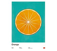 Orange (lucite green) - Natural History Fruits Photographic Print