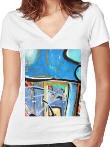 Abtag blue above Women's Fitted V-Neck T-Shirt