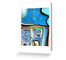 Abtag blue above Greeting Card