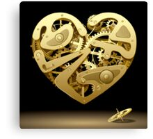 Clockwork Heart Canvas Print