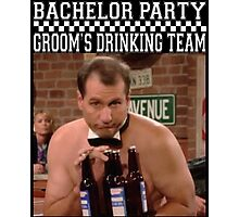 Groom's Drinking Team-Stag Party / Bachelor Party Photographic Print
