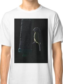 Blue tit on sunflower seed feeder Classic T-Shirt