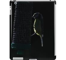 Blue tit on sunflower seed feeder iPad Case/Skin