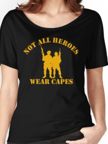 Not All Heroes Wear Capes (Gold print) Women's Relaxed Fit T-Shirt