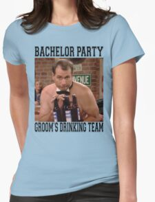 Groom's Drinking Team-Stag Party / Bachelor Party Womens Fitted T-Shirt
