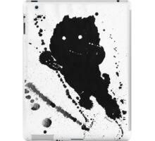 Jumping Leaping Black Puppy Dog Kitten Cat iPad Case/Skin