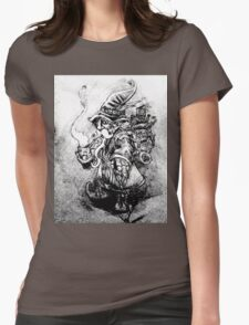 Steampunk Gnome Womens Fitted T-Shirt