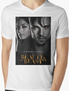 BEAUTY AND THE BEAST COVER Mens V-Neck T-Shirt