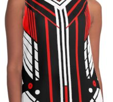 Red Vector Contrast Tank