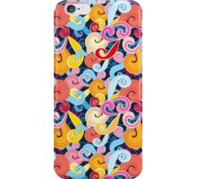 Seamless graphic pattern of waves iPhone Case/Skin