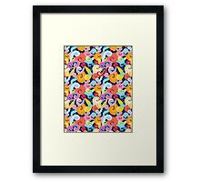 Seamless graphic pattern of waves Framed Print