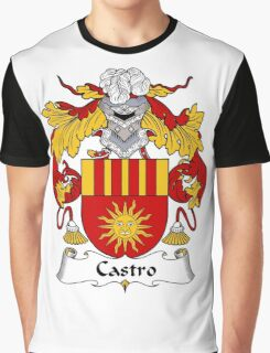 Castro Coat of Arms/ Castro Family Crest Graphic T-Shirt