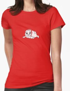 Winter Harp Seal Pup Womens Fitted T-Shirt