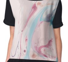 Ink marble texture Chiffon Top