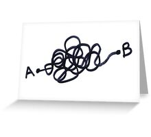 A to B Greeting Card