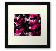 pink and black abstract 5 Framed Print
