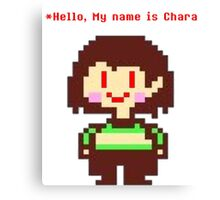 Undertale - Chara (Saying hello) Canvas Print