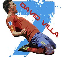 David Villa Celebration  by sportskeeda