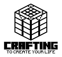 Crafting - To create your life (black) Photographic Print