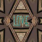 LOVE Shimmer Art Deco by webgrrl