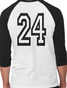 24, TEAM, SPORTS, NUMBER 24, TWENTY, FOUR, Competition,  Men's Baseball ¾ T-Shirt