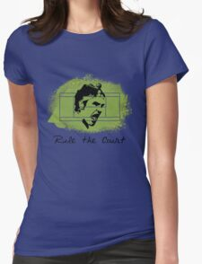 Roger Federer Rule The Court Womens Fitted T-Shirt
