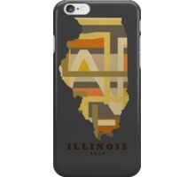 Illinois state map iPhone Case/Skin