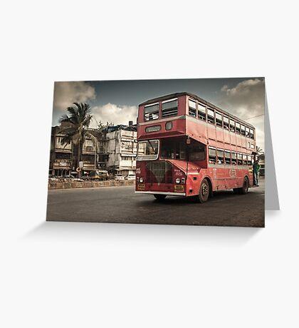 Bombay Bus Greeting Card