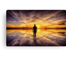 Crosby Beach liverpool Canvas Print