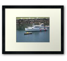 Fishing Boats and the Dinghy Framed Print