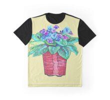 One Vibrant Flower Pot Graphic T-Shirt