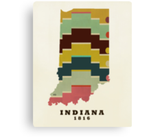 Indiana state map Canvas Print