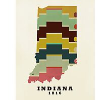 Indiana state map Photographic Print