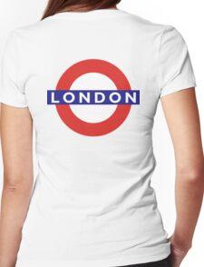 LONDON, UNDERGROUND, TUBE, ENGLAND, England, UK, Britain, BRITISH Womens Fitted T-Shirt