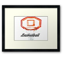 TEAM BASKETBALL Framed Print